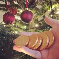 Chocolate Money Christmas tree